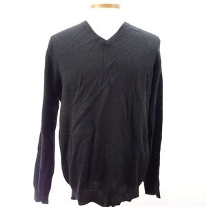 Club Room Luxury Cashmere V-Neck Sweater L NWT